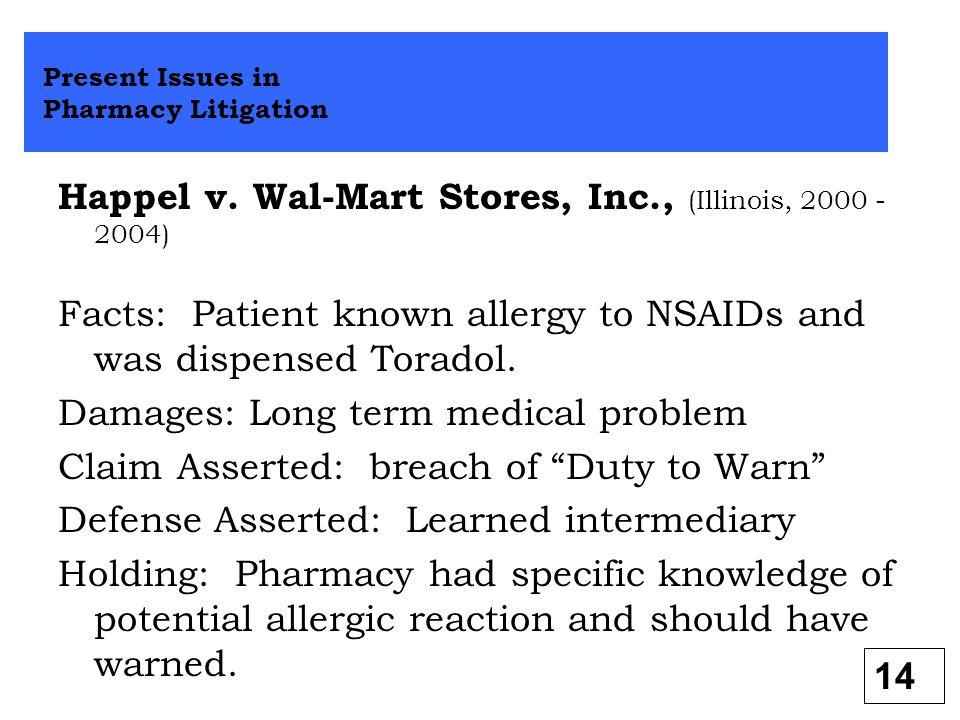 Happel v. Wal-Mart Stores, Inc., (Illinois, 2000 - 2004)