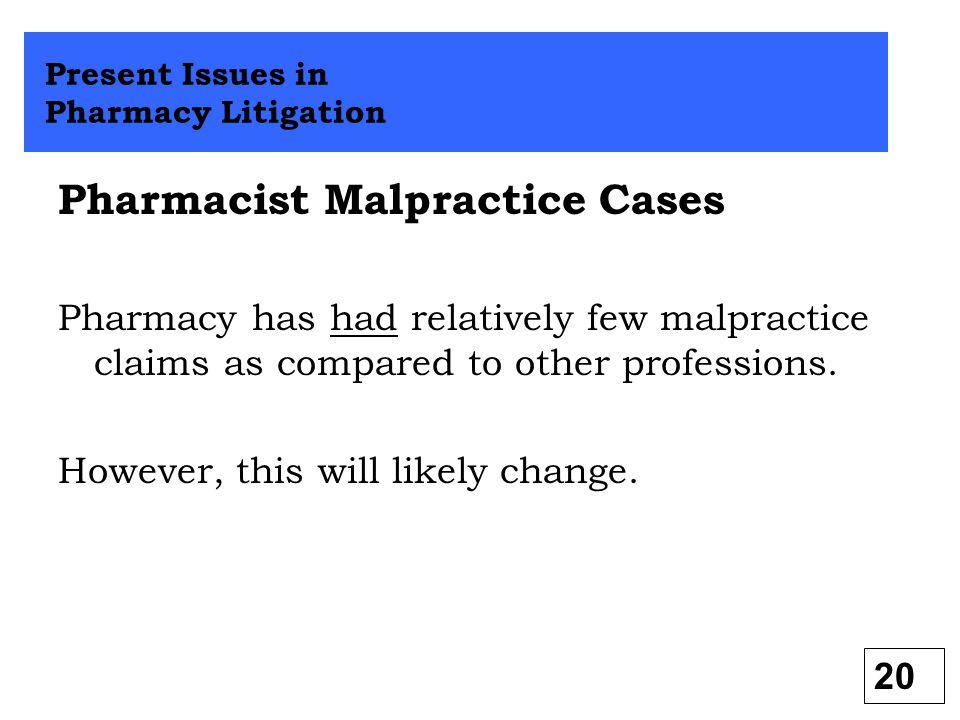 Pharmacist Malpractice Cases