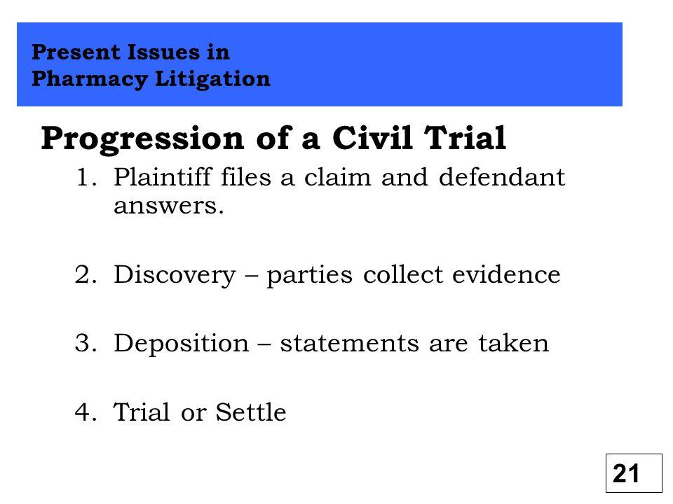 Progression of a Civil Trial