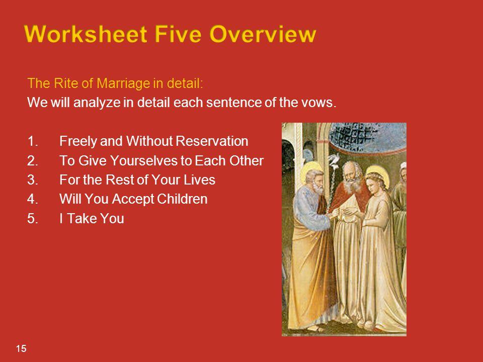 Worksheet Five Overview