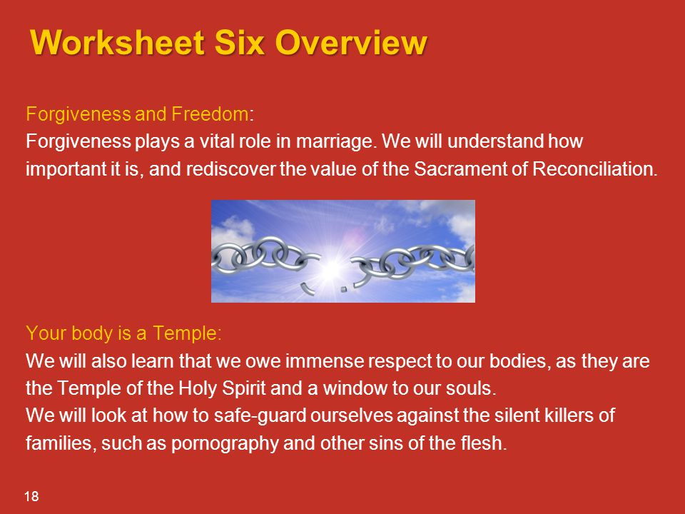 Worksheet Six Overview