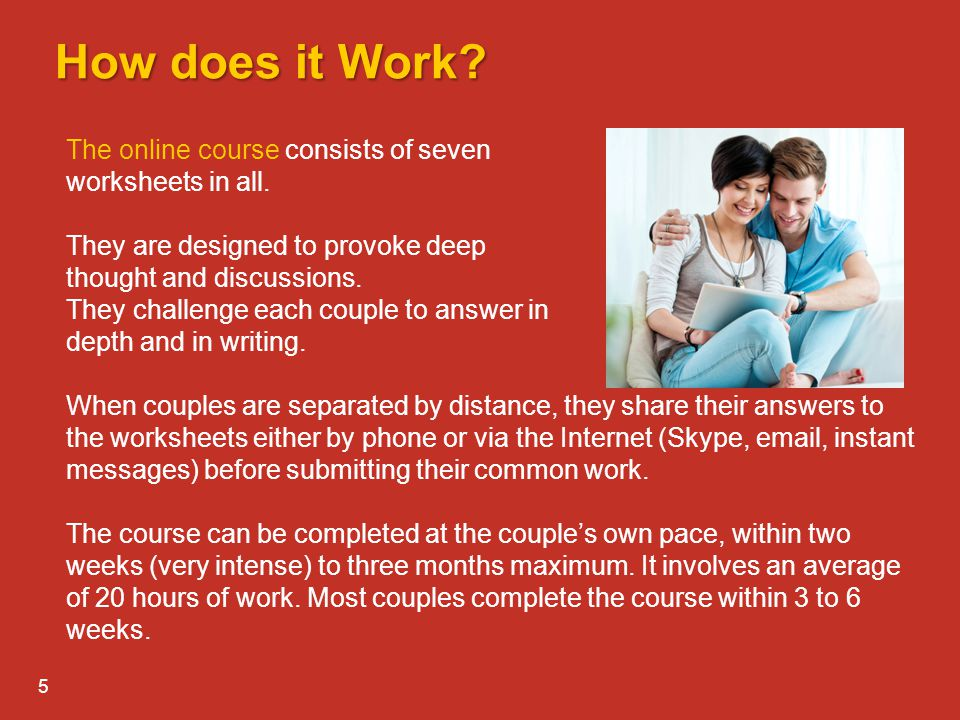 How does it Work The online course consists of seven