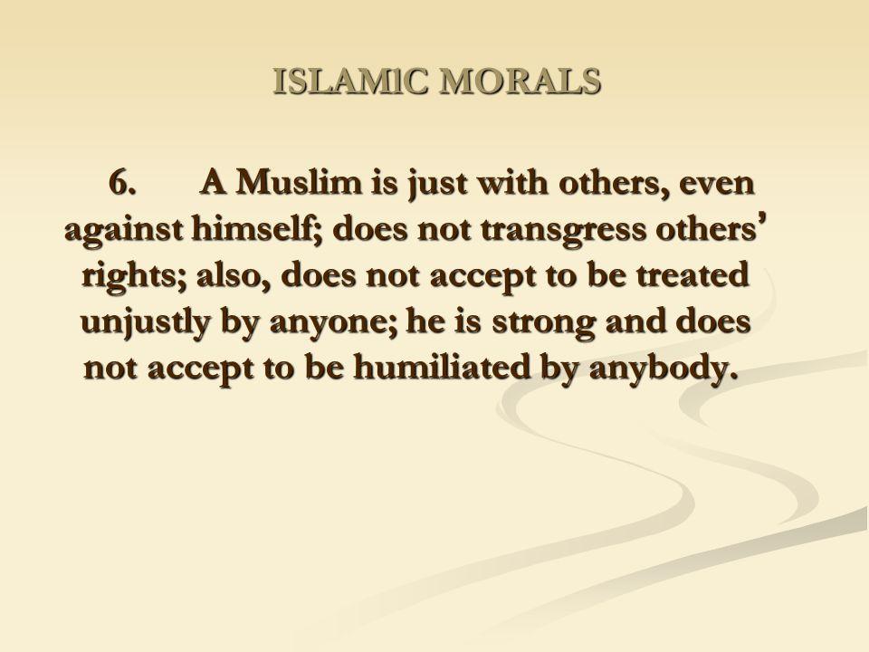 ISLAMlC MORALS