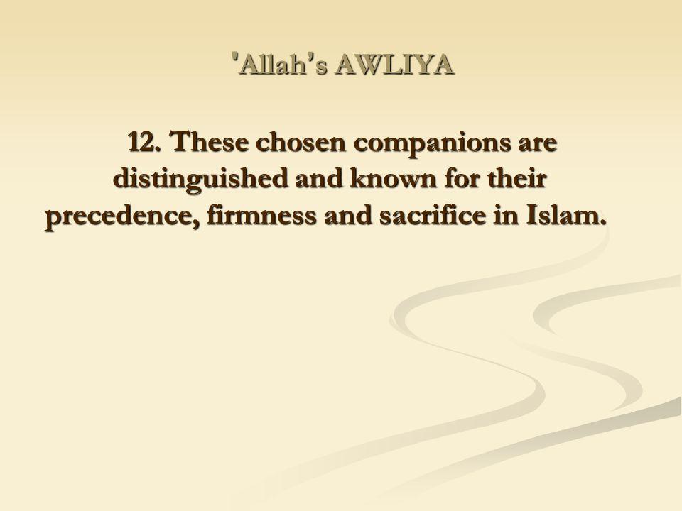 Allah's AWLIYA 12.
