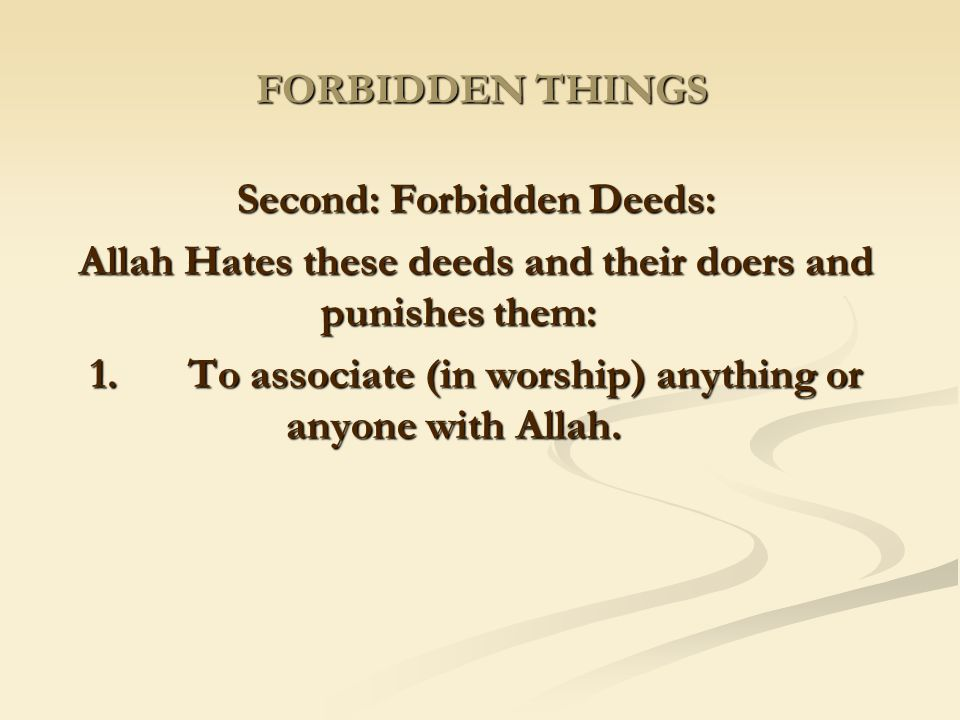 Second: Forbidden Deeds: