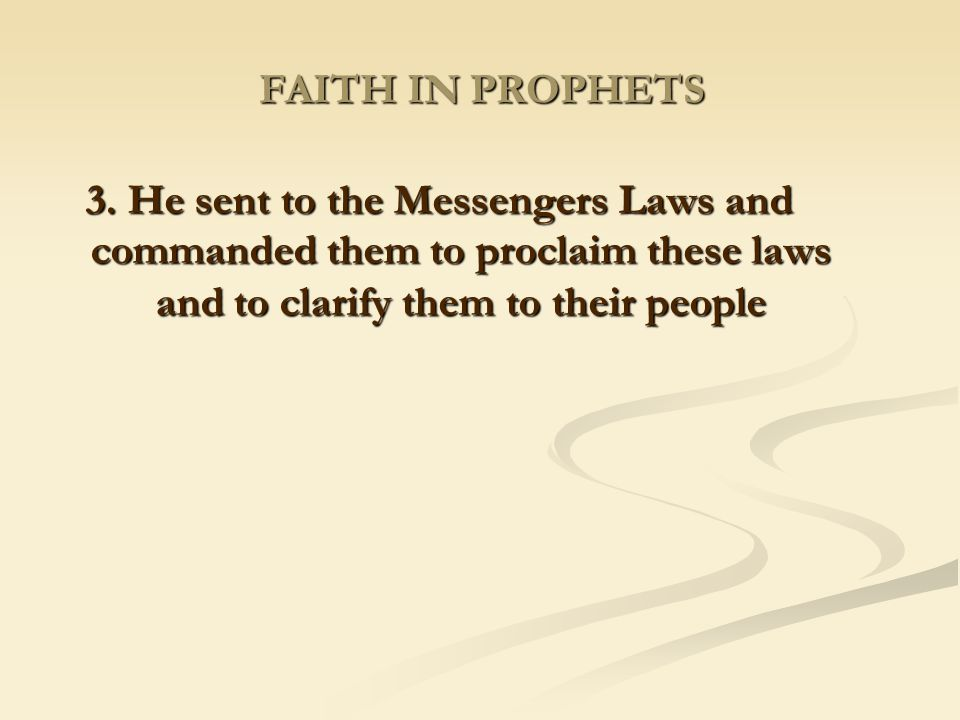 FAITH IN PROPHETS 3.