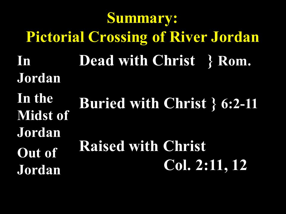 Summary: Pictorial Crossing of River Jordan