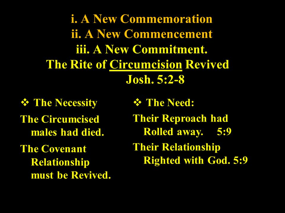 i. A New Commemoration ii. A New Commencement iii. A New Commitment