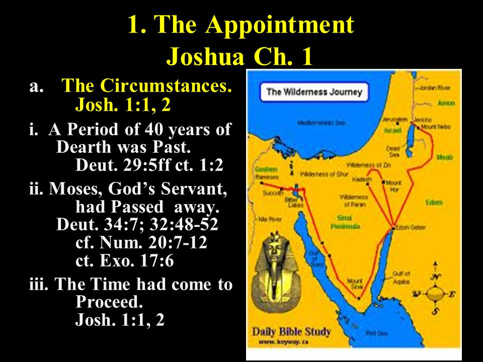 1. The Appointment Joshua Ch. 1