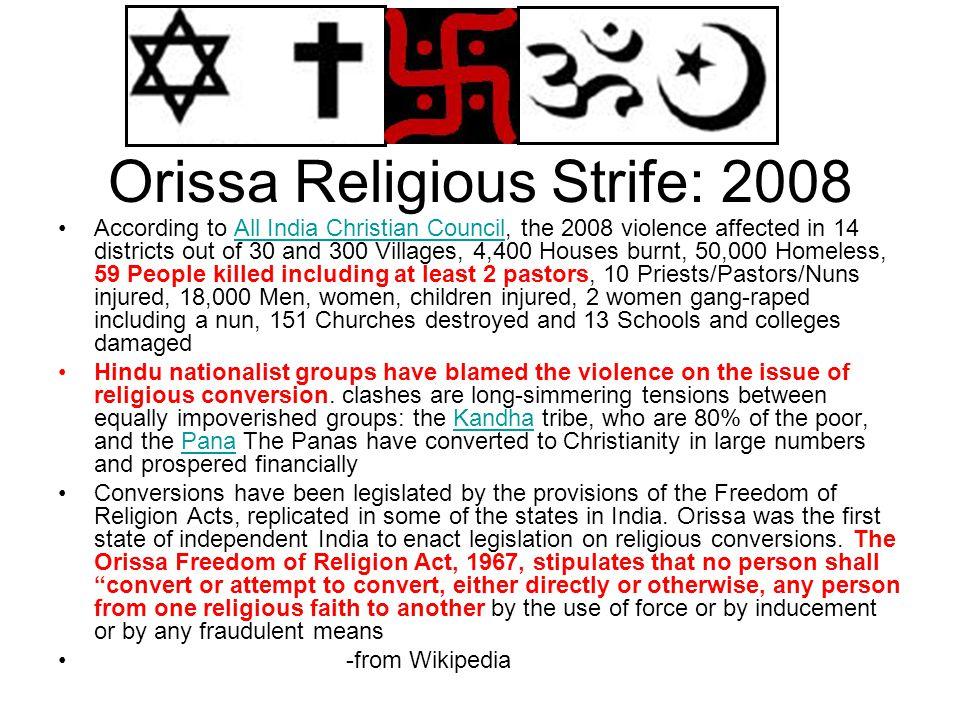 Orissa Religious Strife: 2008