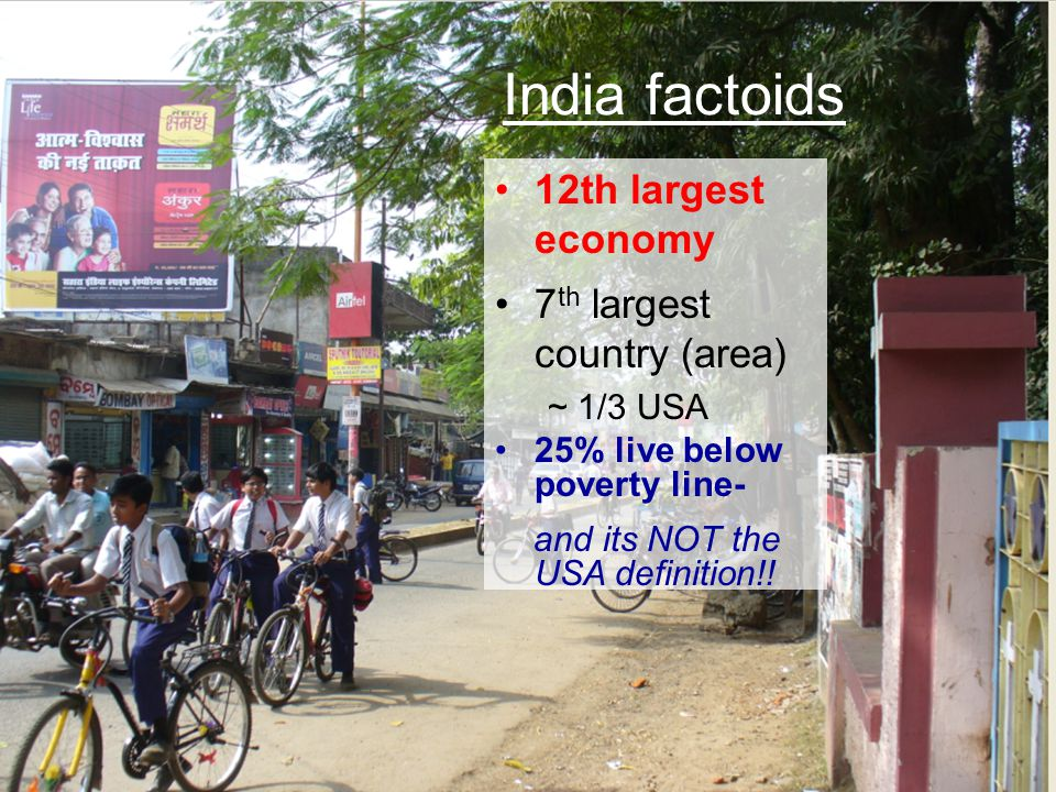India factoids 12th largest economy 7th largest country (area)