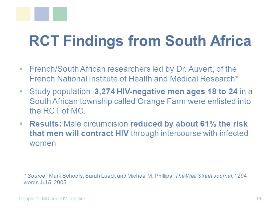 RCT Findings from South Africa