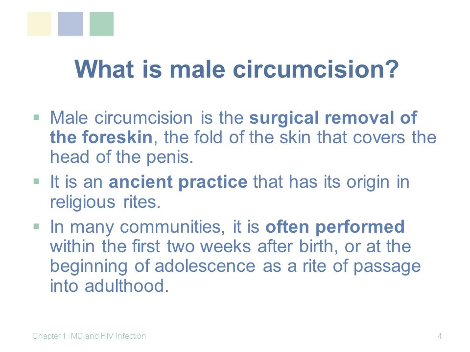 What is male circumcision