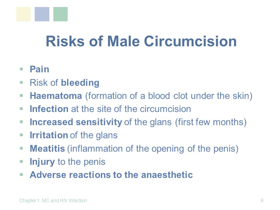 Risks of Male Circumcision