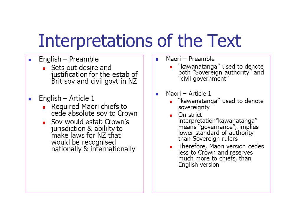 Interpretations of the Text