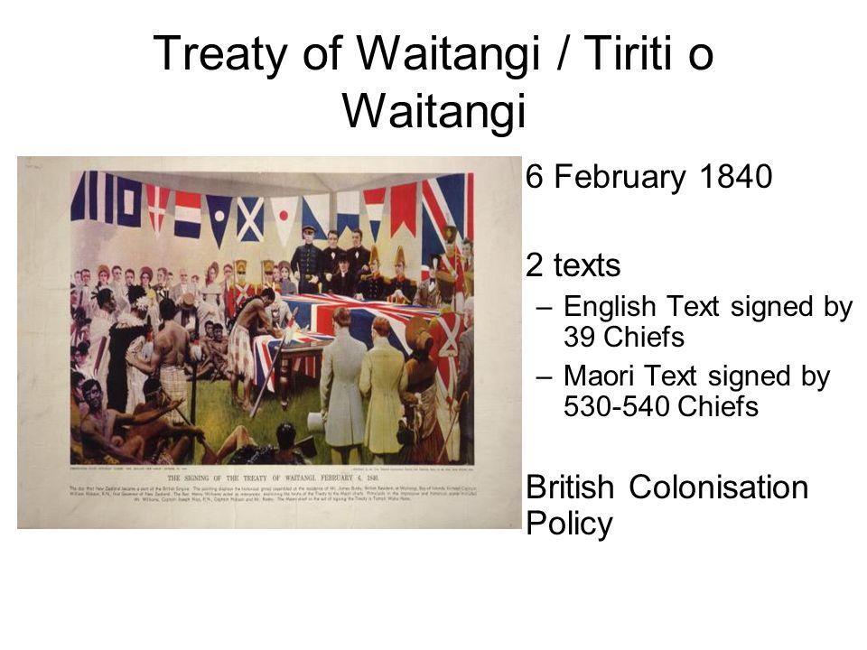 Treaty of Waitangi / Tiriti o Waitangi