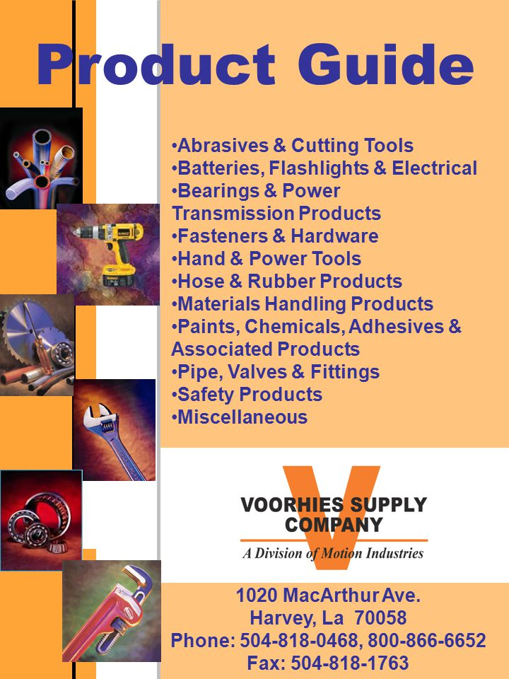 Product Guide Abrasives & Cutting Tools