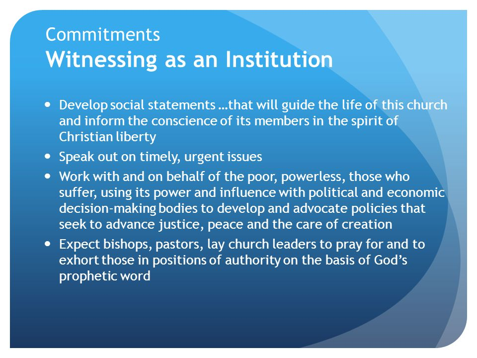 Commitments Witnessing as an Institution