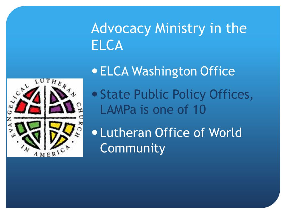 Advocacy Ministry in the ELCA