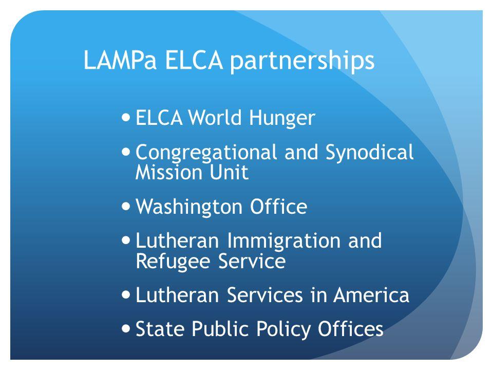 LAMPa ELCA partnerships