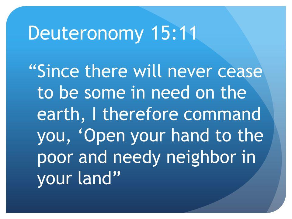 4/12/2017 Deuteronomy 15:11.