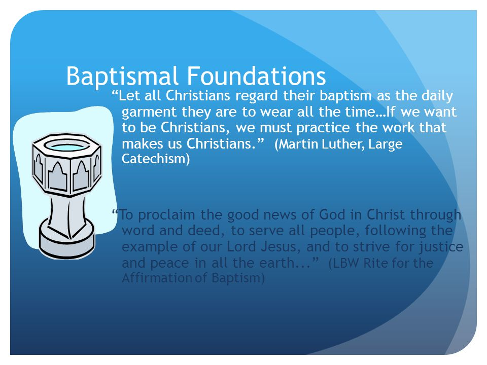 Baptismal Foundations