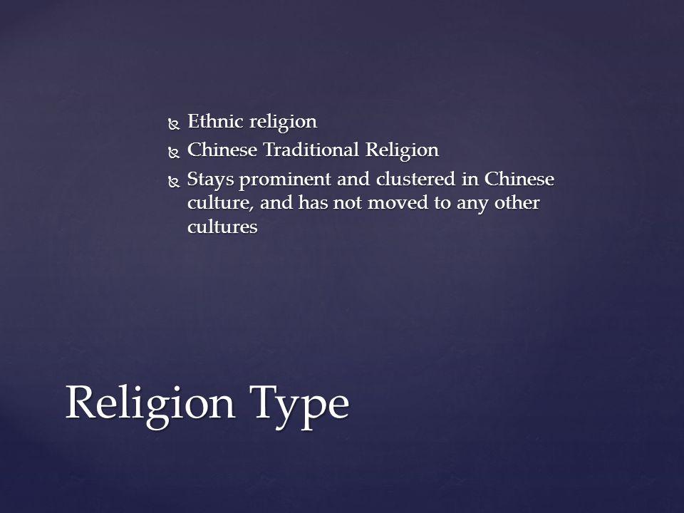 Religion Type Ethnic religion Chinese Traditional Religion