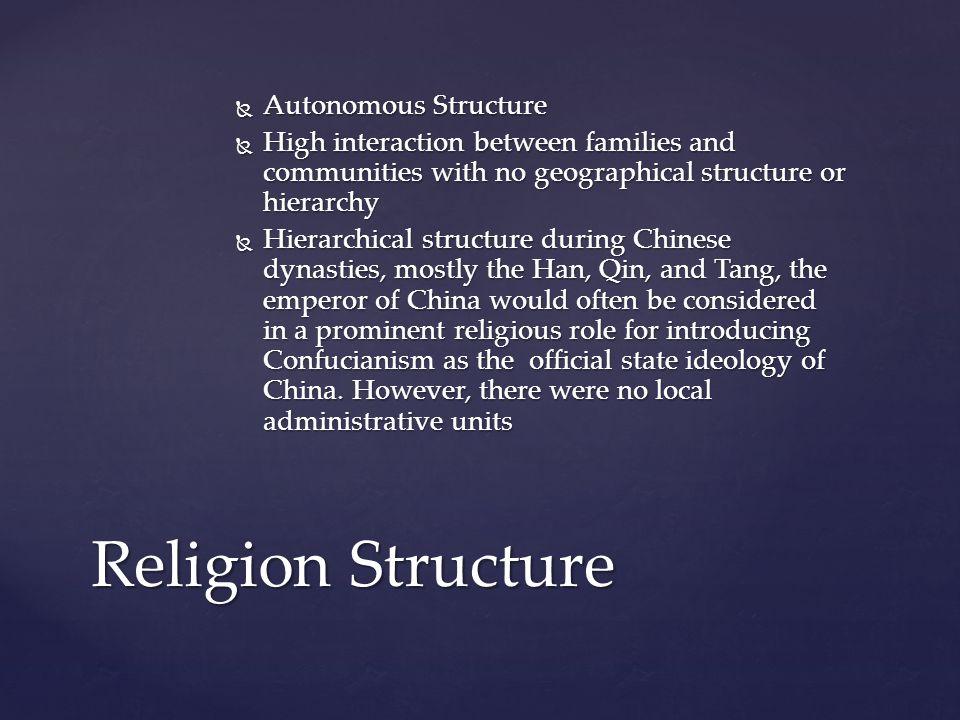 Religion Structure Autonomous Structure