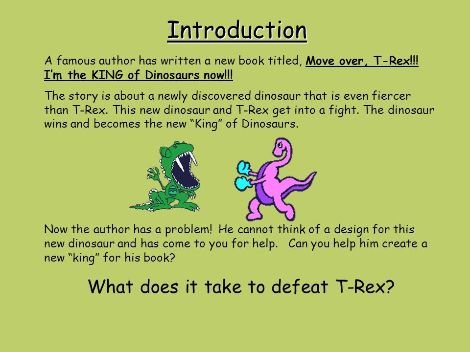 What does it take to defeat T-Rex