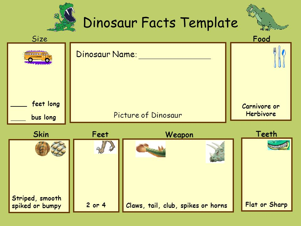 Dinosaur Facts Template