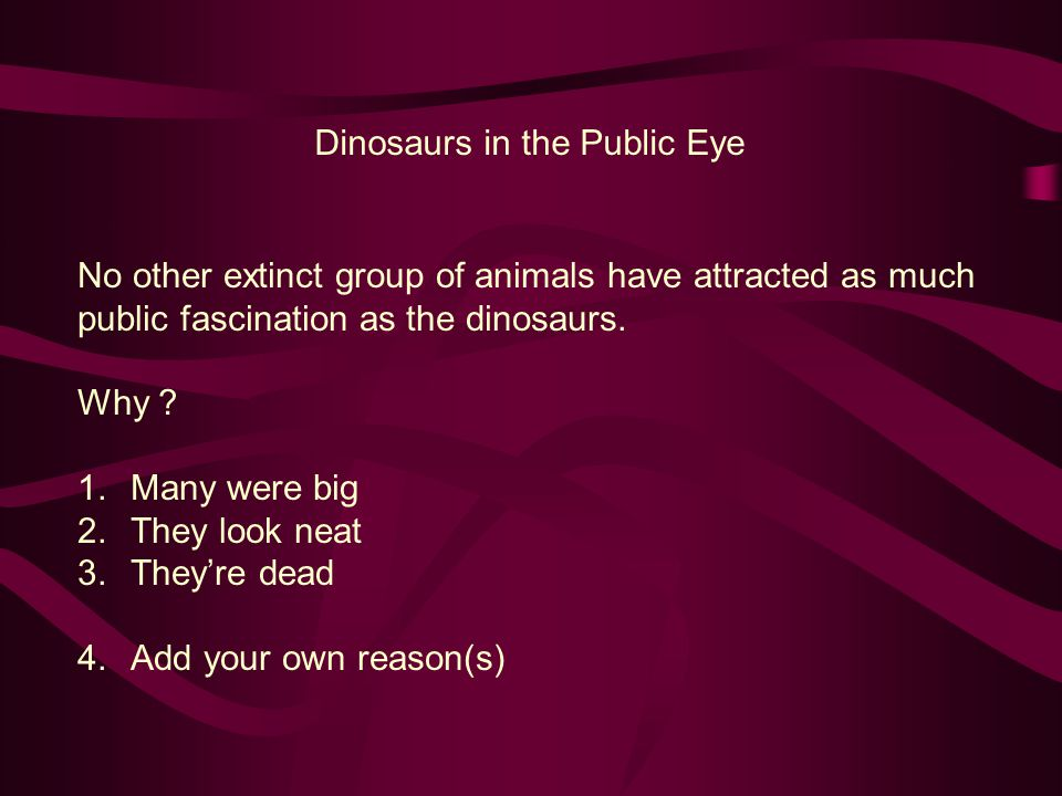 Dinosaurs in the Public Eye