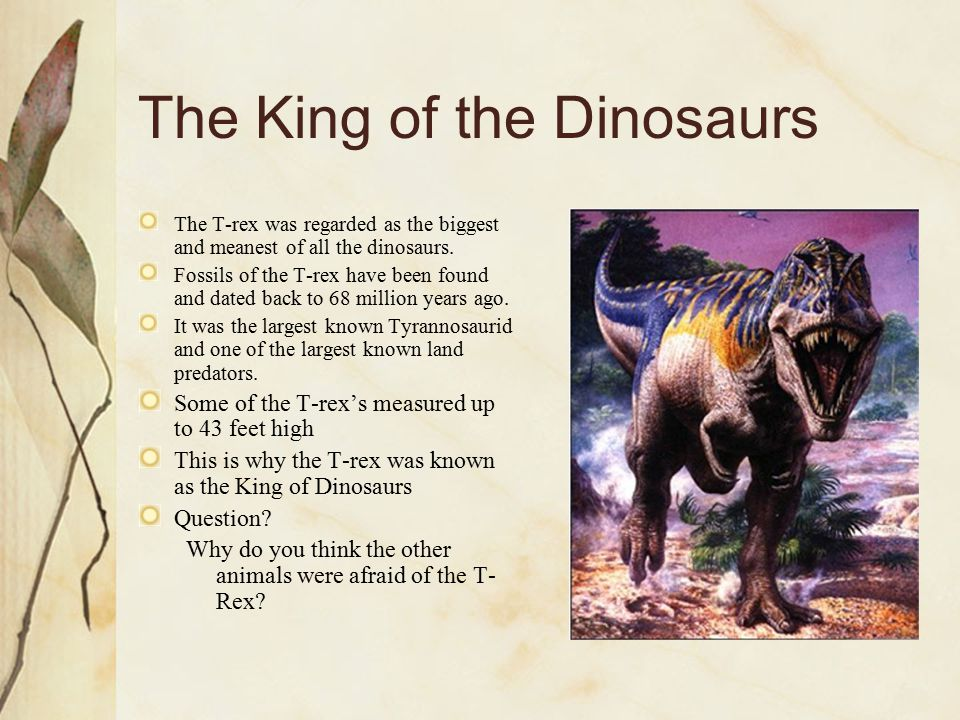 The King of the Dinosaurs