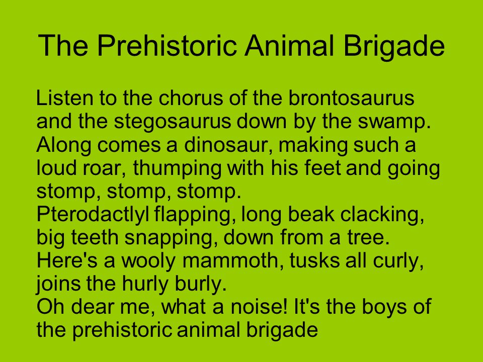The Prehistoric Animal Brigade