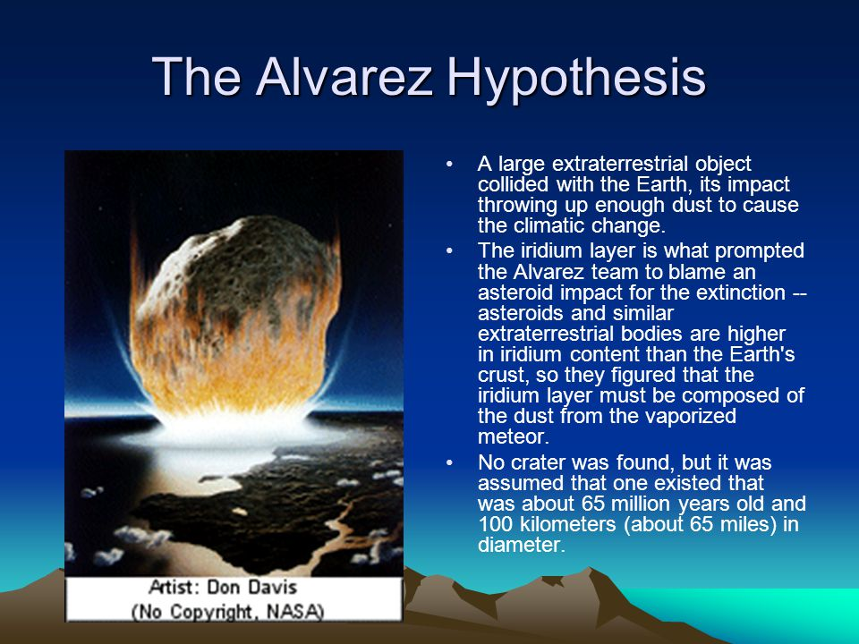 The Alvarez Hypothesis