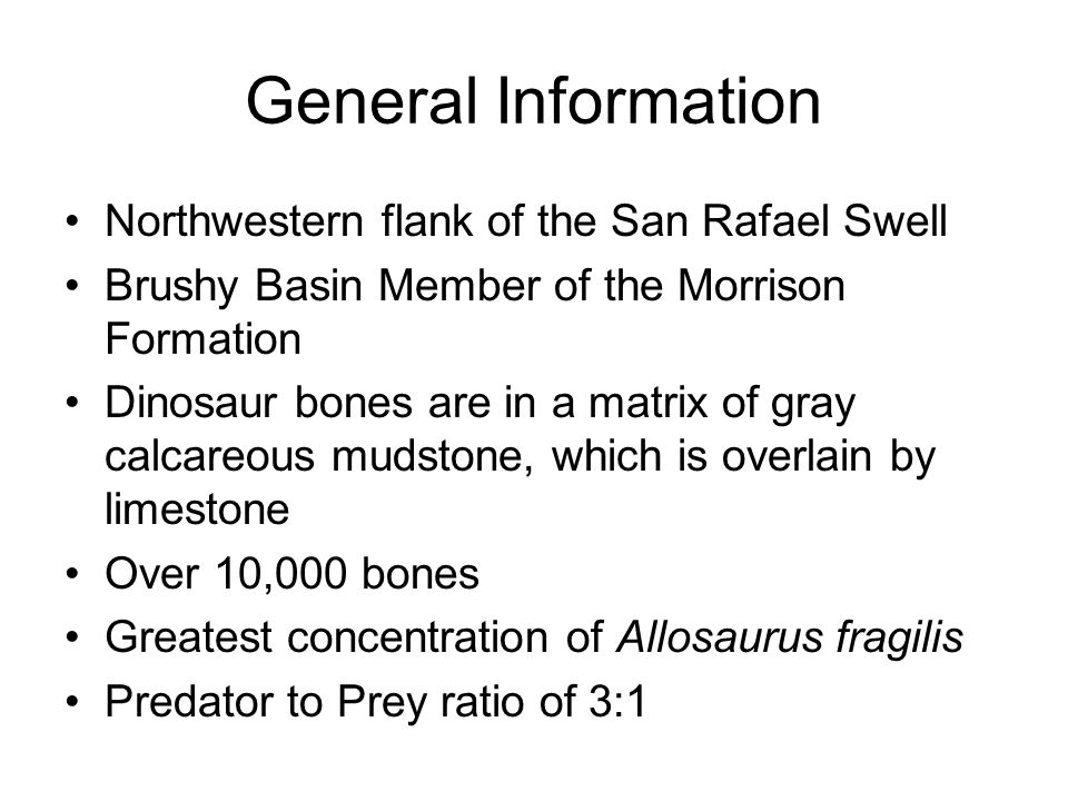 General Information Northwestern flank of the San Rafael Swell