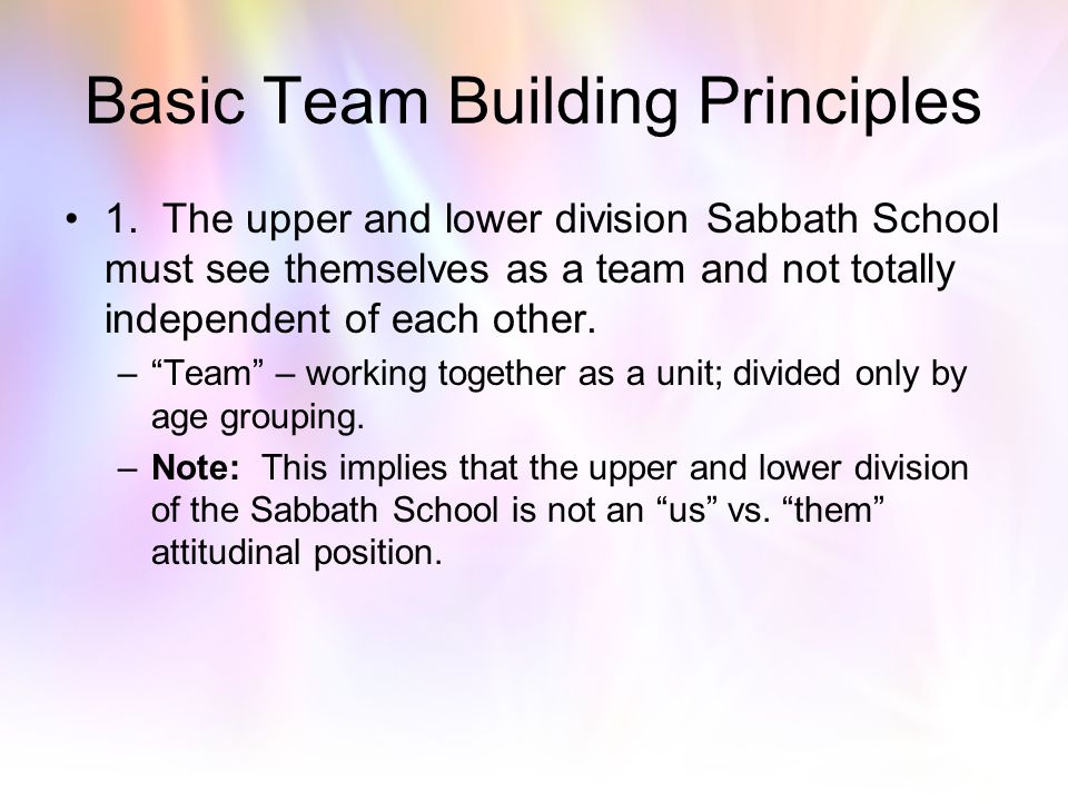 Basic Team Building Principles