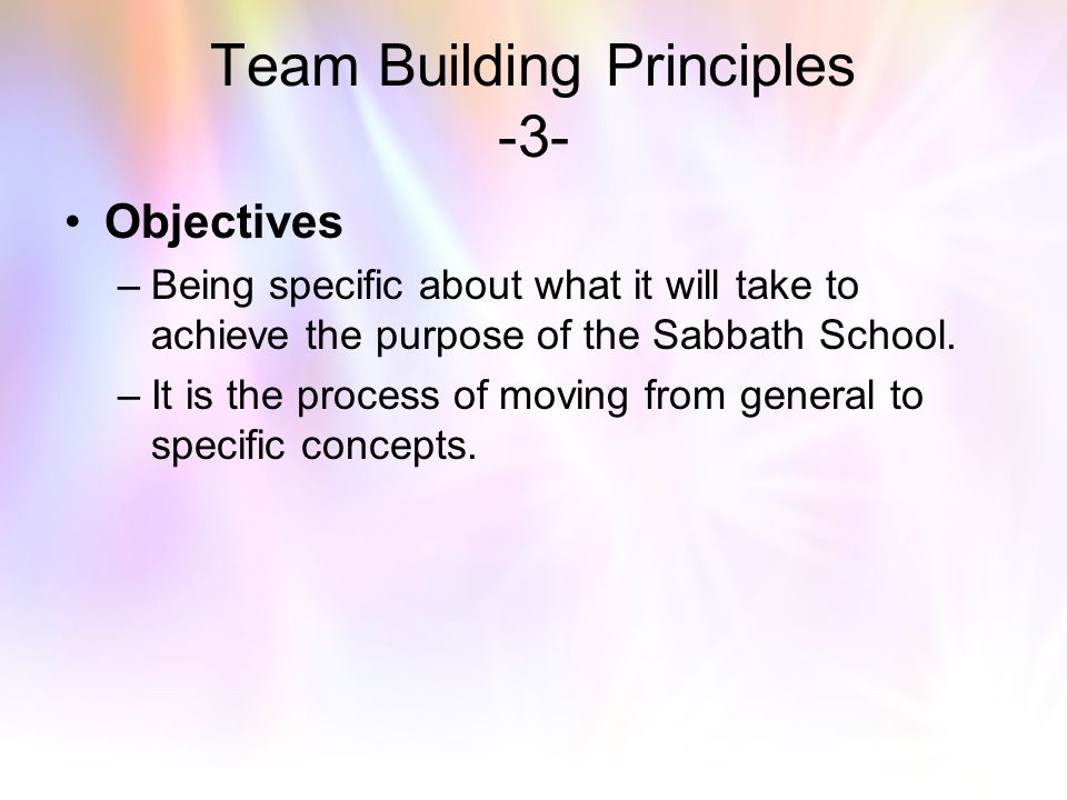 Team Building Principles -3-