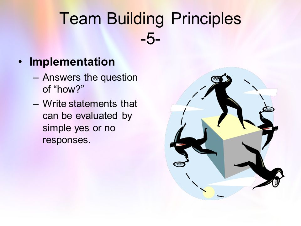 Team Building Principles -5-