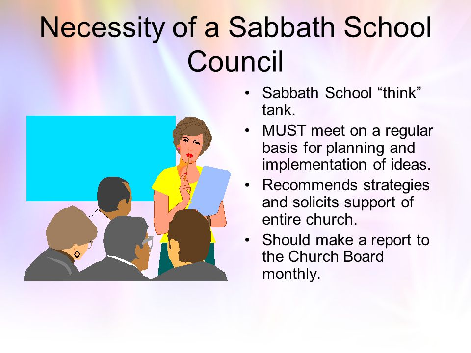 Necessity of a Sabbath School Council