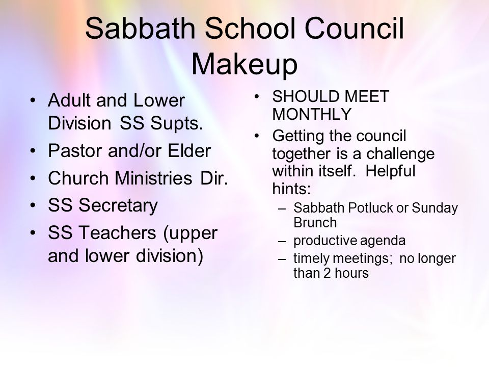 Sabbath School Council Makeup