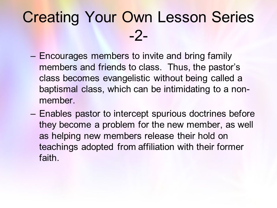 Creating Your Own Lesson Series -2-