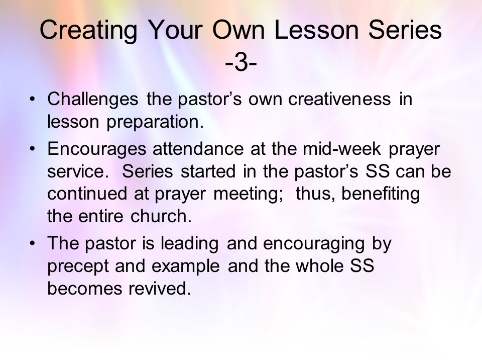 Creating Your Own Lesson Series -3-