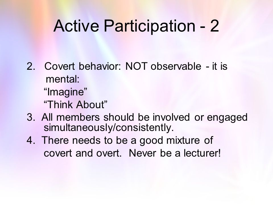 Active Participation - 2