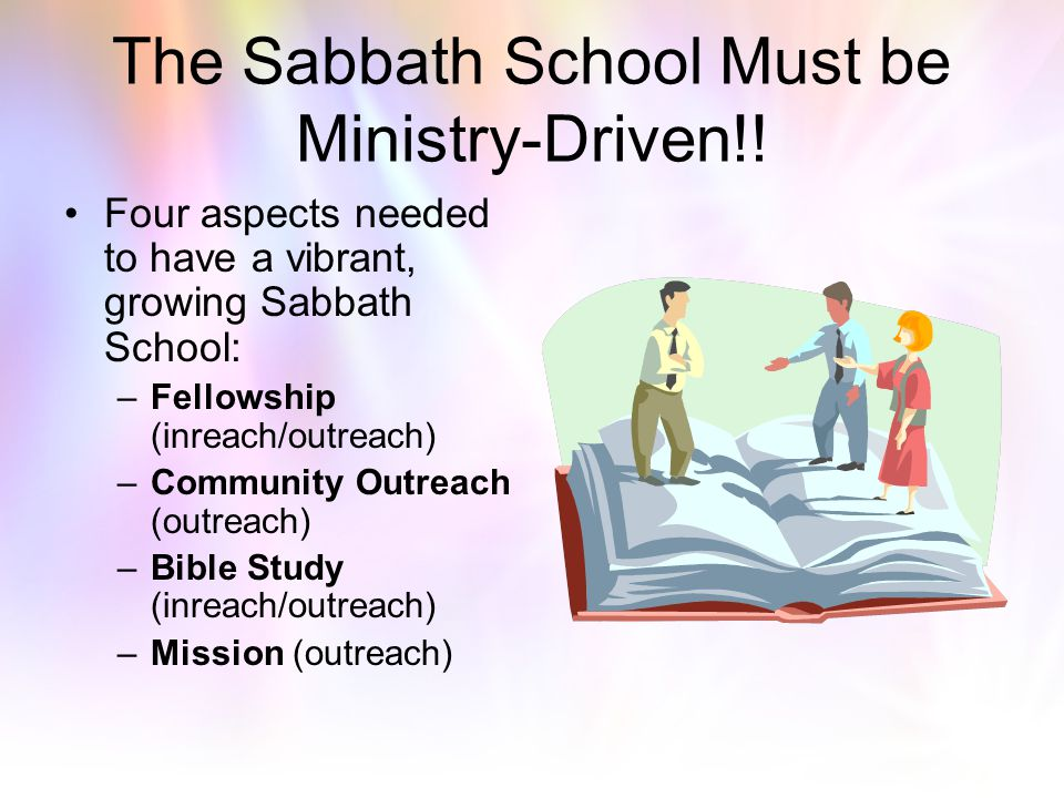 The Sabbath School Must be Ministry-Driven!!