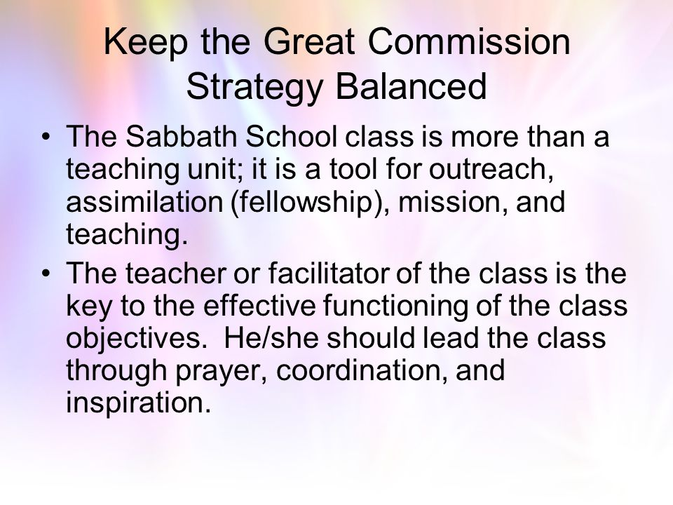 Keep the Great Commission Strategy Balanced