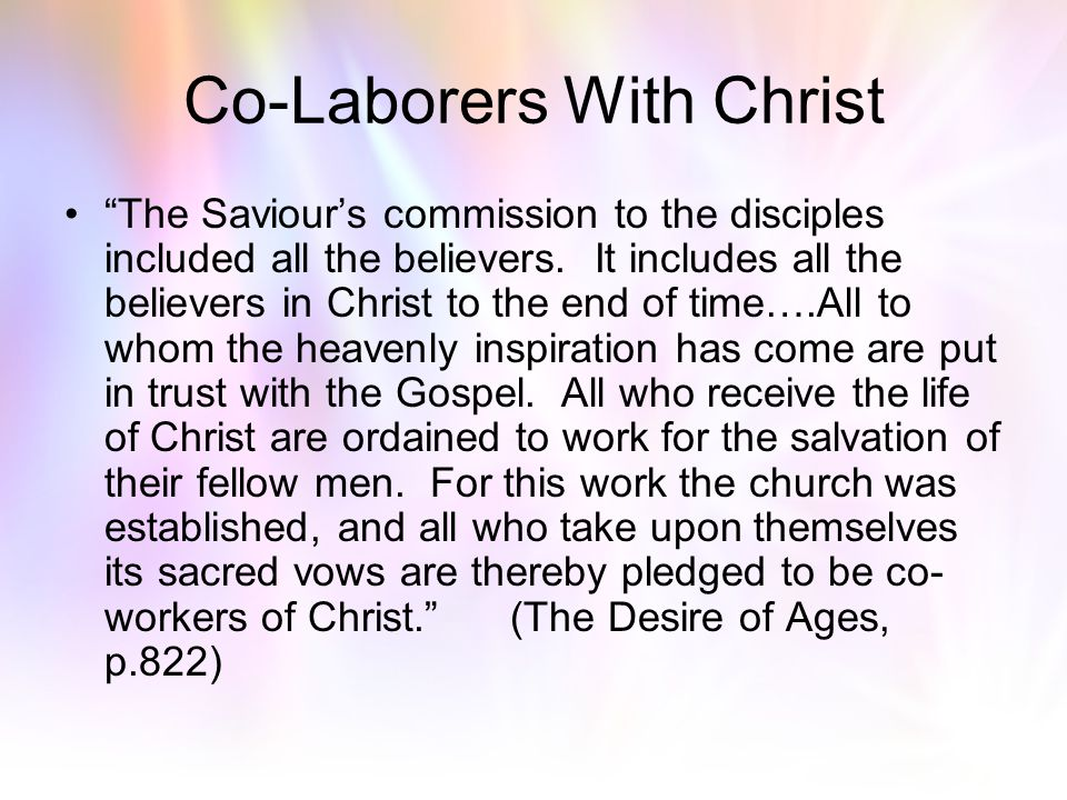 Co-Laborers With Christ