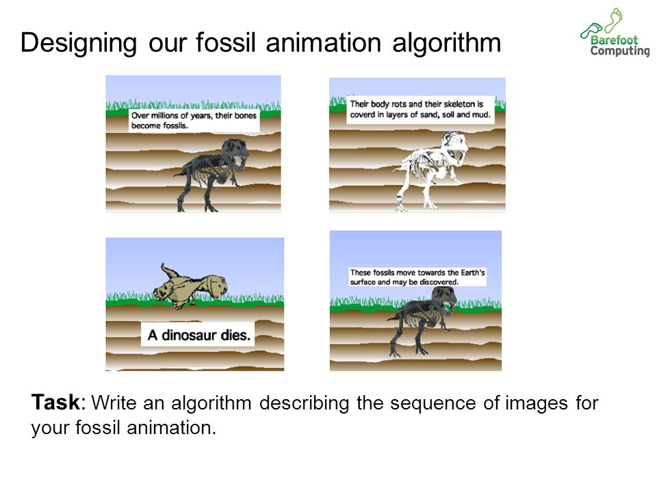 Our fossil animation algorithm