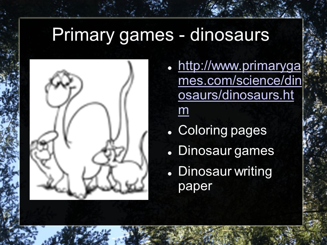 Primary games - dinosaurs