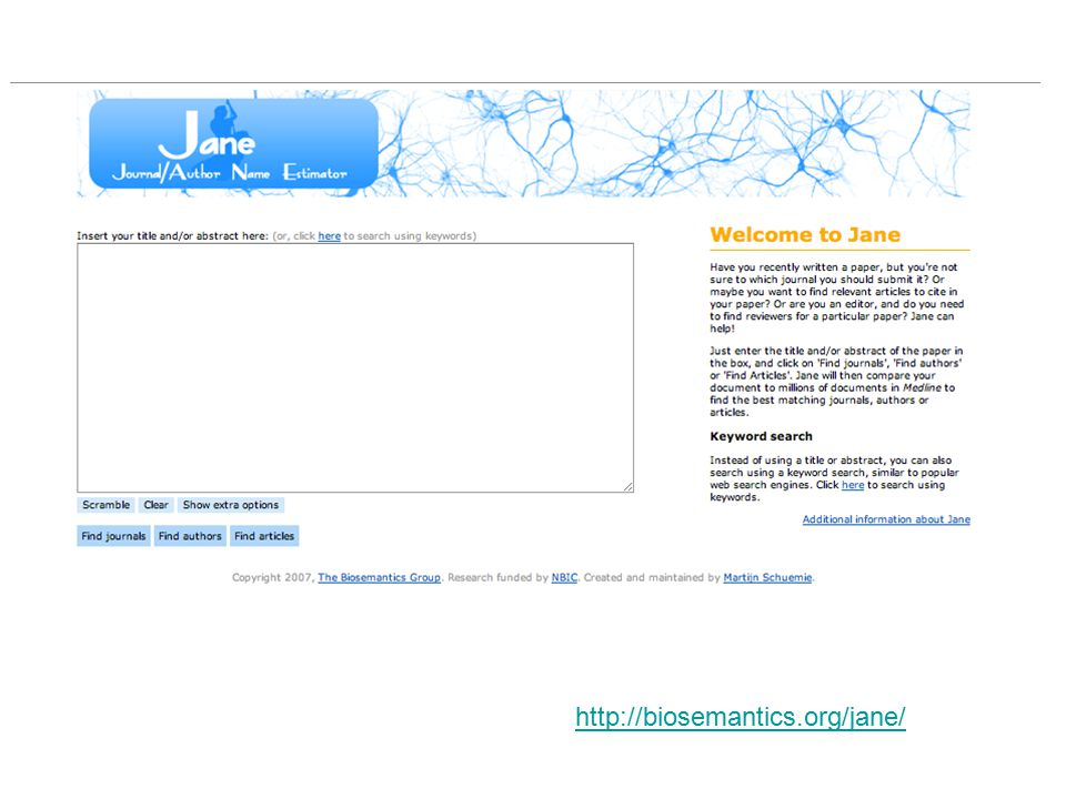 http://biosemantics.org/jane/