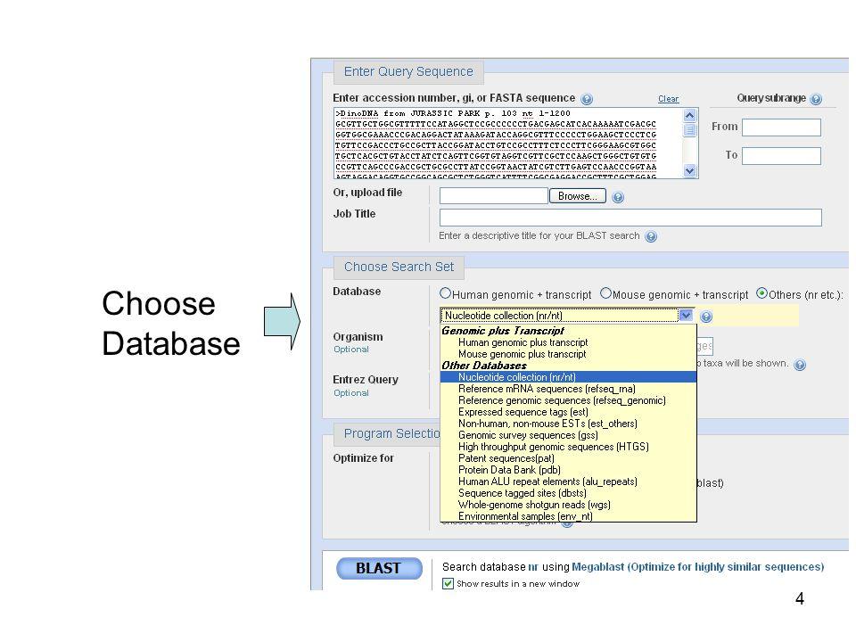 Choose Database